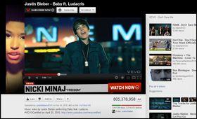 Justin Bieber må se seg slått av koreanske PSY.