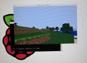 Minecraft på Raspberry Pi.