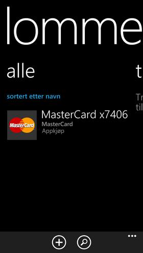 Lommebok-appen samler kortinformasjon på ett sted.