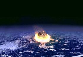 BEGYNNELSEN PÅ SLUTTEN: Meteoren for 65 millioner år siden traff jorden omtrent ved byen Chicxulub i Mexico. Krateret ble funnet først i 1978, og har fått navnet Chicxulubkrateret.