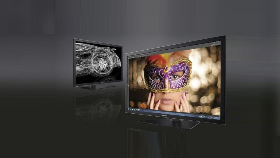 Sharp slipper skjerm med superoppløsning