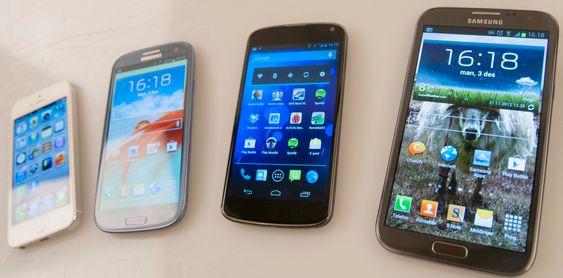 Hvilken av disse toppmodellene som har best skjerm blir for mange en smakssak. At skjermen i Nexus 4 er svært god er det imidlertid ingen tvil om.