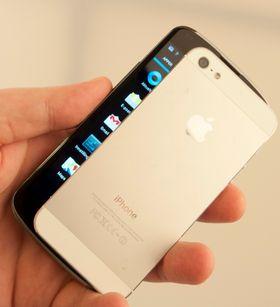 Nexus 4 har en skjerm på 4,7 tommer, men den er likevel ikke uhåndterbar.