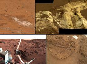 Denne bildesamlingen viser de ulike jordtypene på Mars.