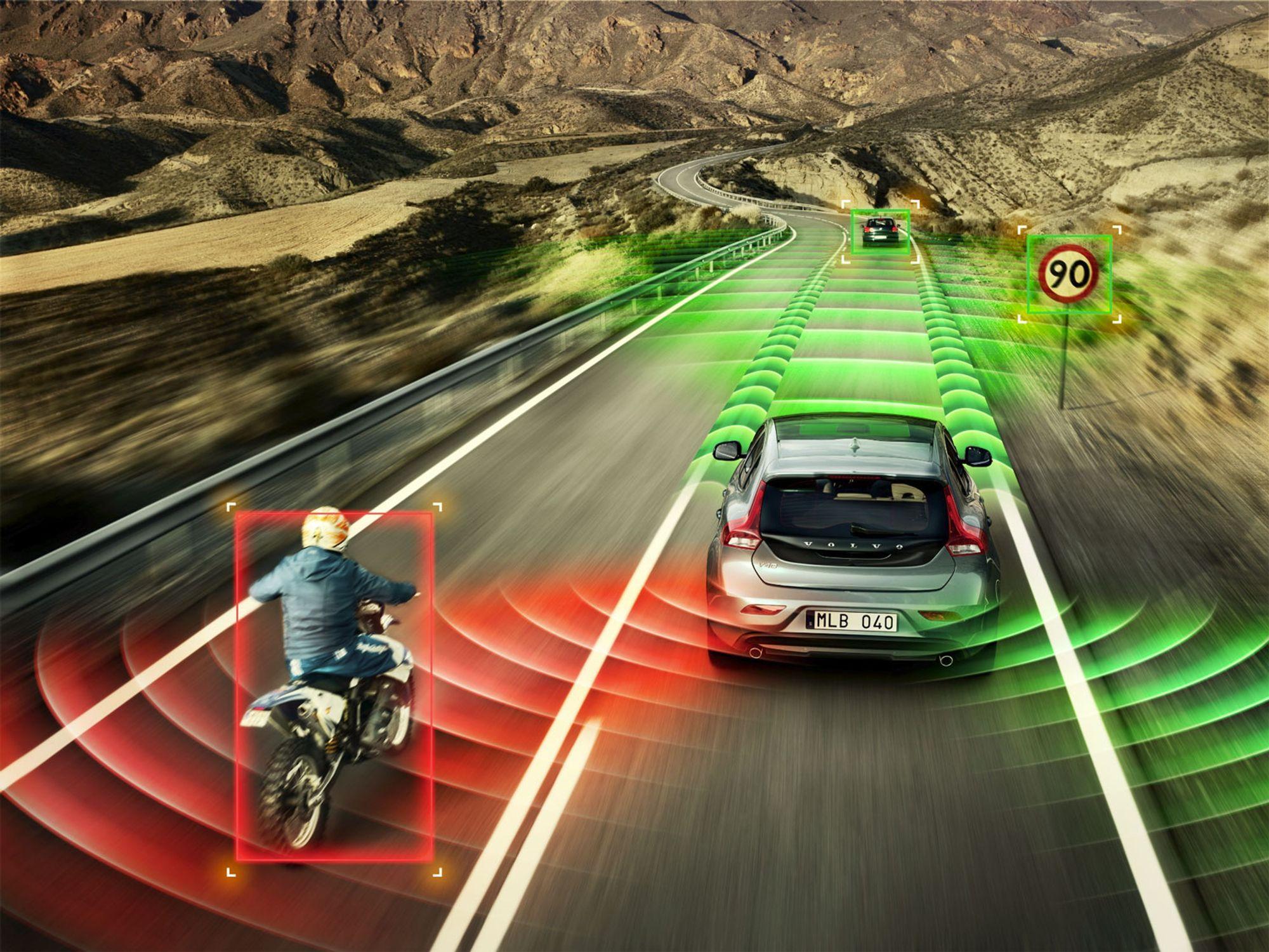 f5e00087 VOLVO ANNO 2020: Sensorer vil etter hvert også fungere med biler i høy  hastighet,