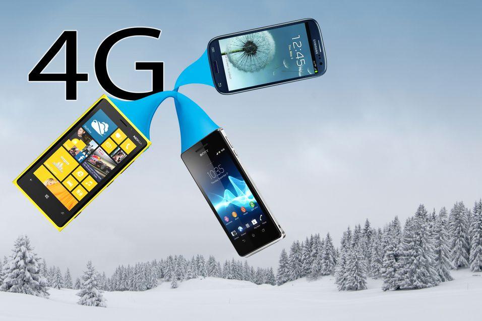 Nå kommer 4G-telefonene