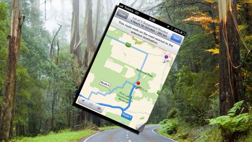 Australsk politi advarer mot å bruke Apple-kart
