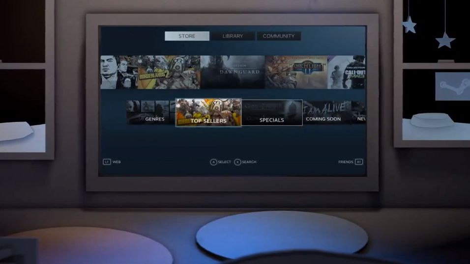 «Big Picture Mode» ble sluppet i september, og tilpasset Steam-grensesnittet for TV-bruk.