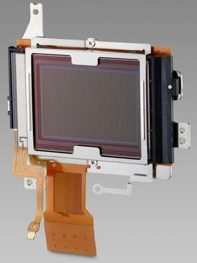 Slik ser bildesensoren ut på et speilreflekskamera.