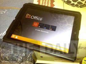 Dette bildet skal vise Office for iPad, ifølge The Daily. Microsoft har tidligere benektet ektheten til bildet.