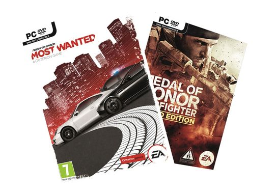 Need for Speed: Most Wanted og Medal of Honor: Warfighter.