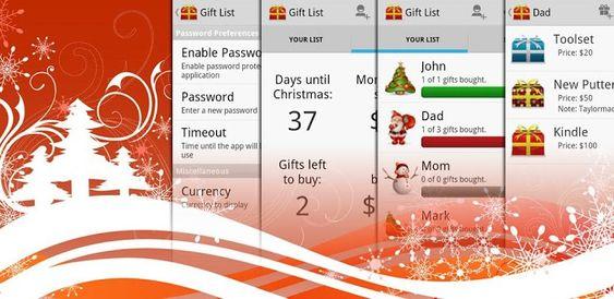 Christmas Gift List til Android.
