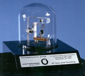 Kopi av den første transistoren.