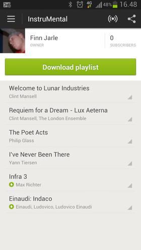 4G kan også være nyttig når du vil synkronisere spillelister i Spotify eller Wimp.