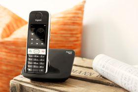 Gigaset S820 har berøringsskjerm som kan vise inntil seks ulike favorittfunksjoner.