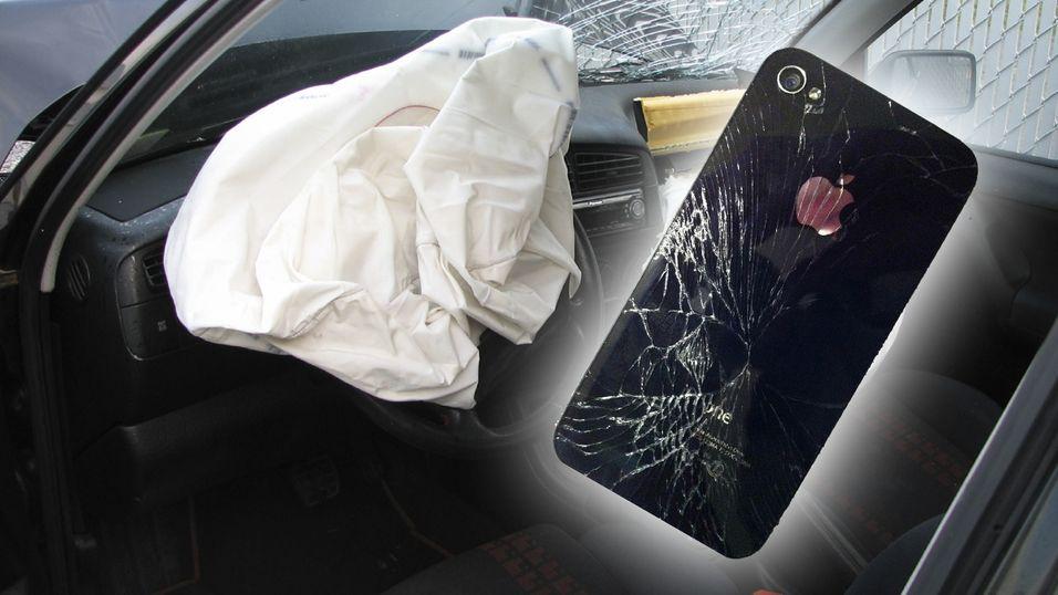 En knust skjerm på smarttelefonen er ikke å foretrekke. Nå har grunnleggeren av Amazon levert et airbag-patent.