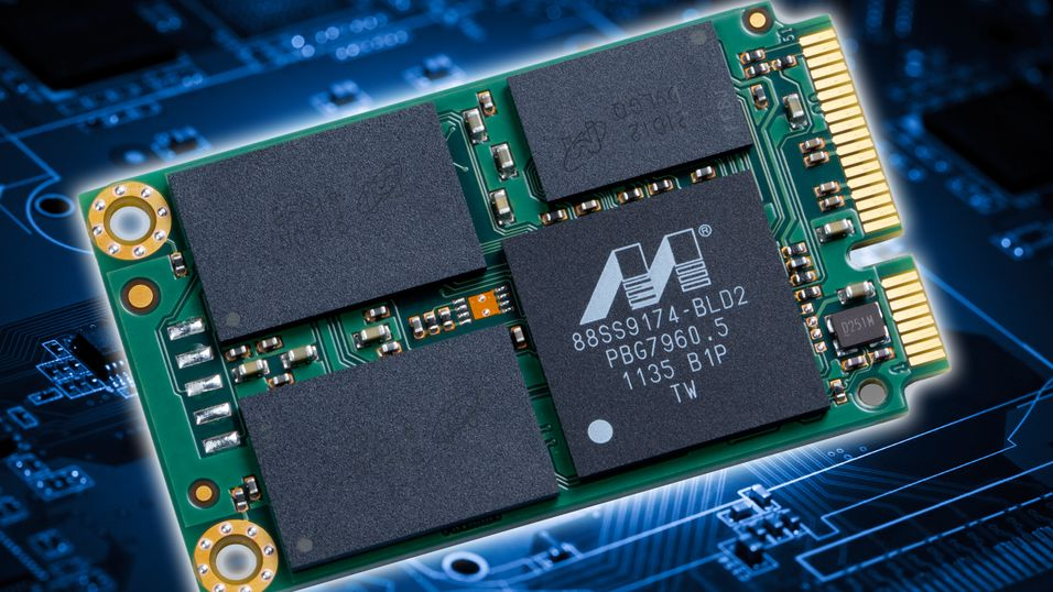 Illustrasjonsbilde, standard mSATA SSD fra Micron