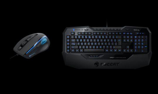 Roccat Kone XTD Mouse og Roccat Isku Keyboard.