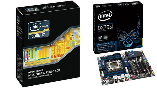 Intel DX79SI og Intel Core i7 3960X.