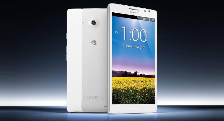 Huawei Ascend Mate har en skjerm som er hele 6,1 tommer stor.