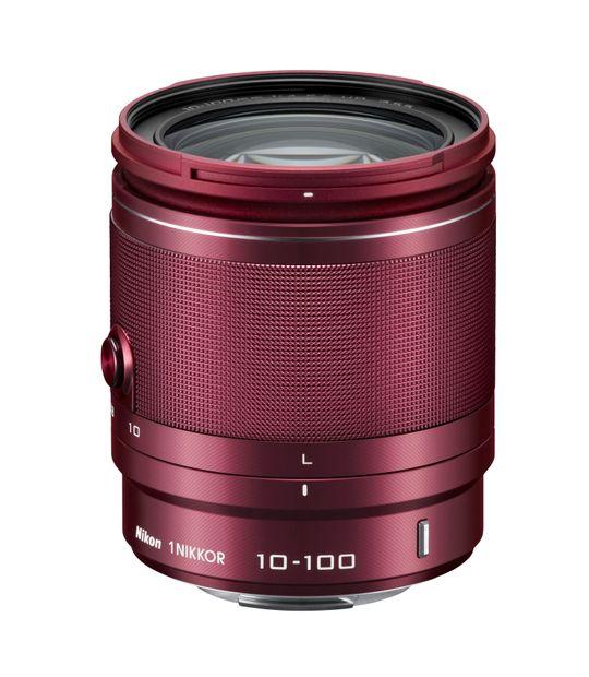 Rød Nikon 1 Nikkor VR 10-100mm f/4-5.6.