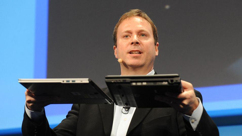 Intels Kirk Skaugen poengterer at mindre strømforbruk betyr tynnere produkter.