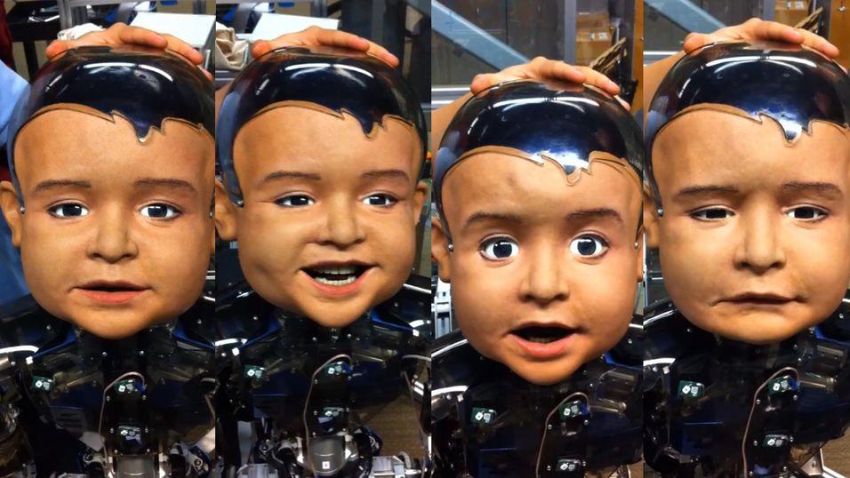 Diego-san er en uttrykksfull robot som skal hjelpe forskere med å studere barns utvikling.