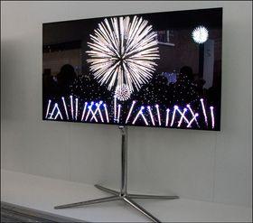 Samsung viste frem flere OLED-TV-er uten 3D-funksjonaliteten skrudd på. .
