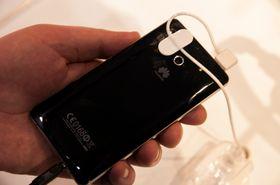 Slik ser baksiden av den svarte modellen ut.
