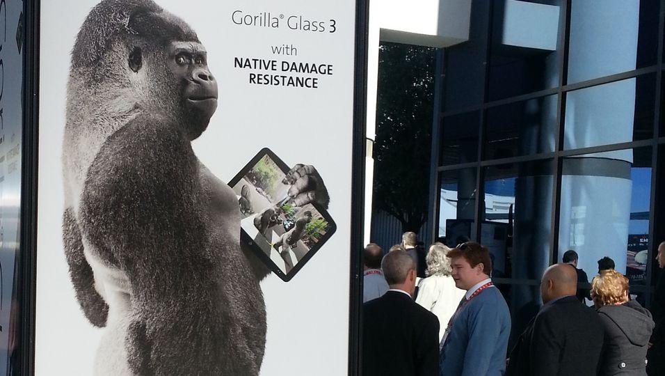Corning viste frem Gorilla Glass 3 på CES-messen i Las Vegas.