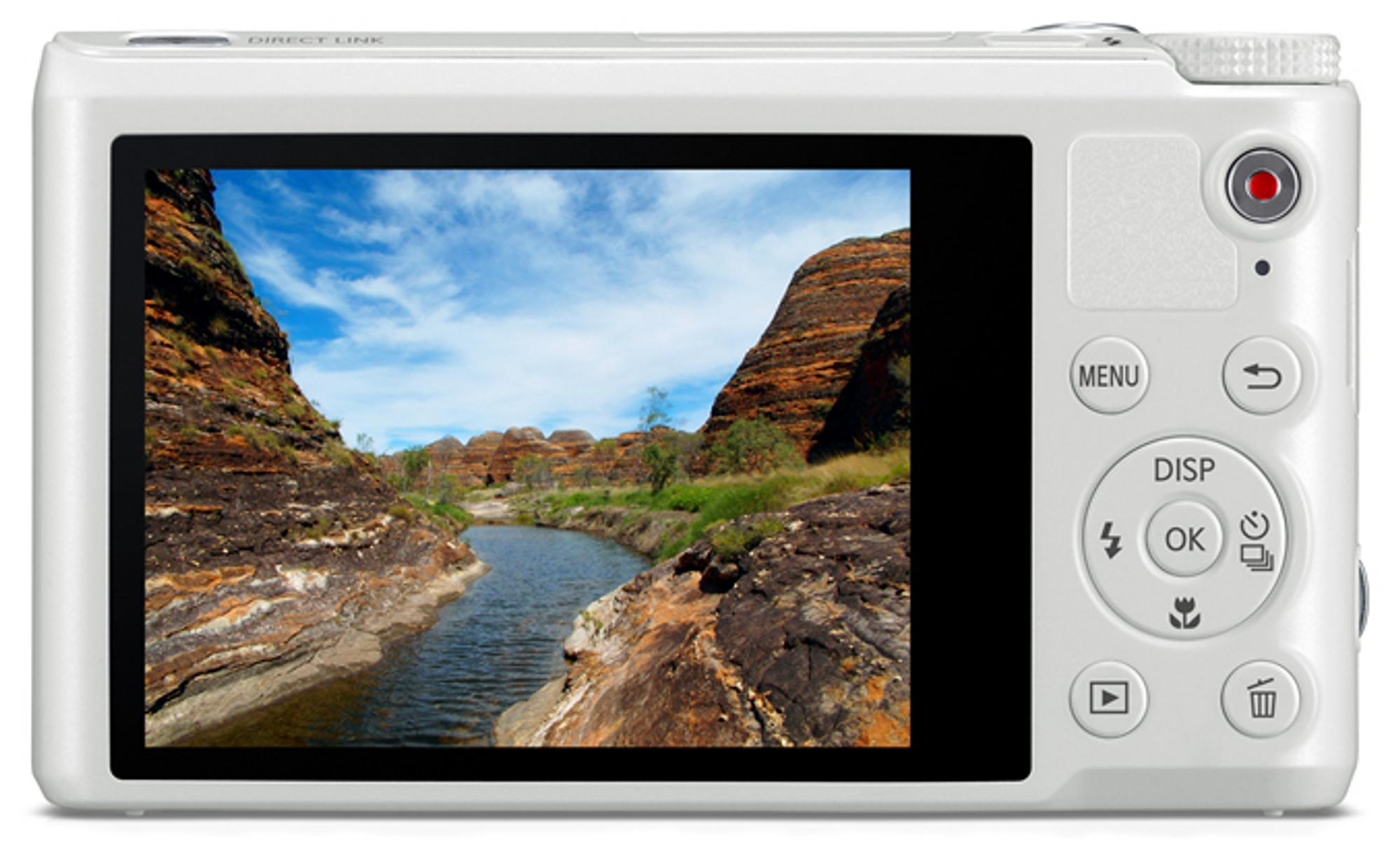 WB250F har touchskjerm, og lar deg kontrollere kameraets innstillinger.