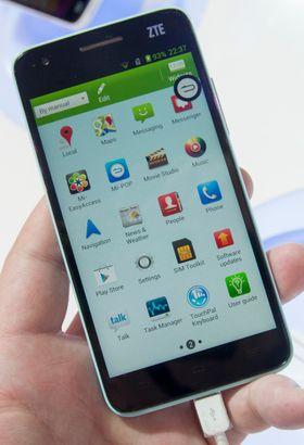 I motsetning til Huawei har ZTE beholdt applikasjonsmenyen i sitt menysystem.