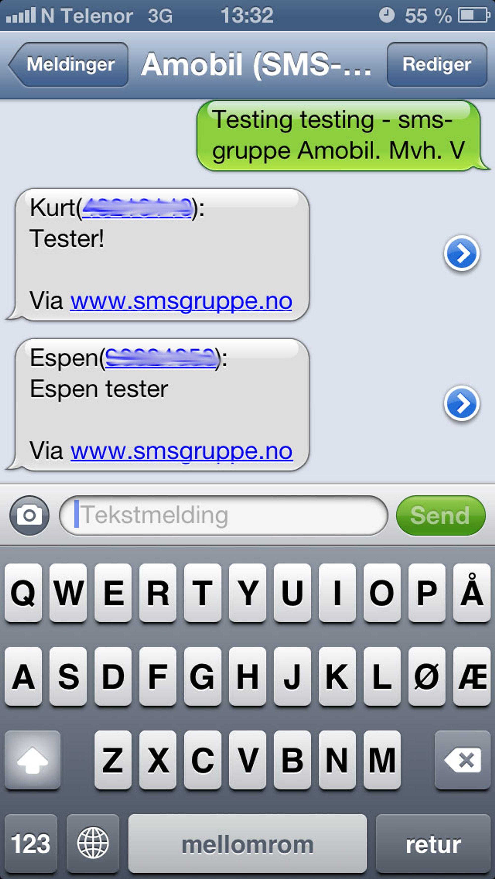 Motta sms på pc