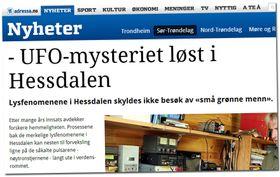 IKKE HELT RIKTIG: Et viktig spor var avdekket, men vi er fremdeles langt unna en forklaring på Hessdalenfenomenet, sier forskeren Erling Strand til Side3.