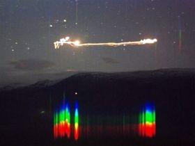 SPETRALBILDER: Bilder som dette kan si noe om lyskilden, men målingene i Hessdalen peker ikke i én retning.