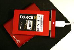 Bakstykket kan brukes rett på andre harddisker eller SSD-er.