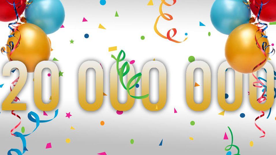 Vi har rundet 20 000 000 innlegg