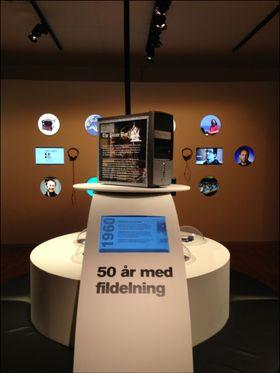 """Utstillingen """"50 år med fildeling""""."""