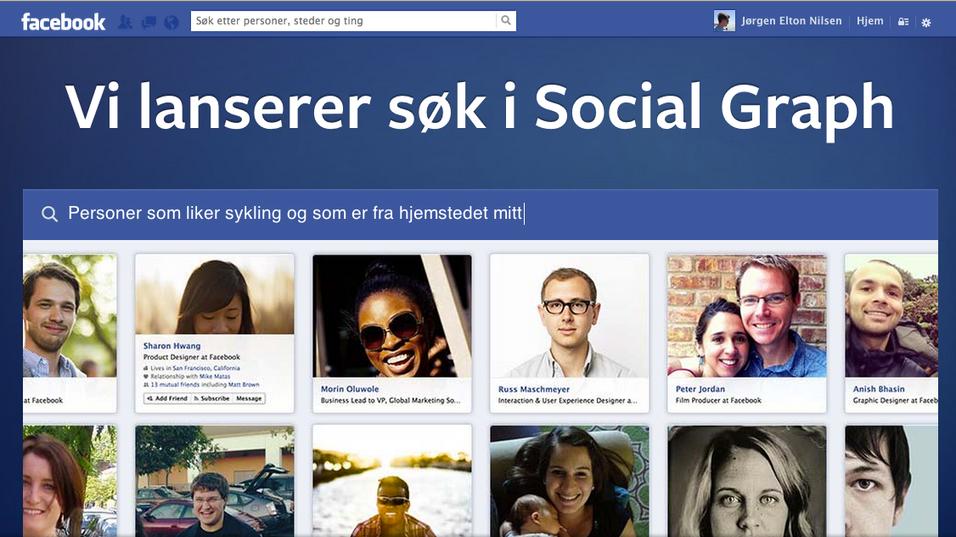 Facebooks nye søketjeneste: Social Graph