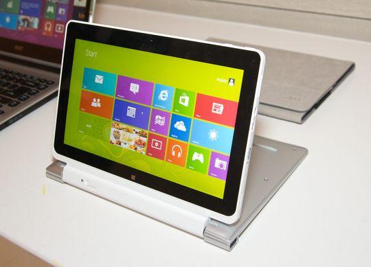 Acer hadde en kjekk liten bærbar, der du kunne løsne skjermen for å bruke den som nettbrett. Test av godsaken, Iconia W5, kommer snart.