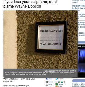 Slik ser ringeklokken til Wayne Dobson ut nå.