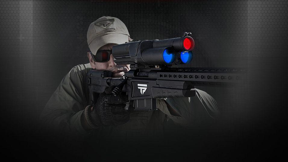«Precision Guided Firearms», eller PGF, har et avansert siktesystem som skal hjelpe deg med å treffe målet.