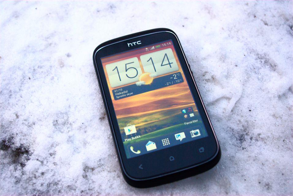 Desire C er en liten og nett mobiltelefon.