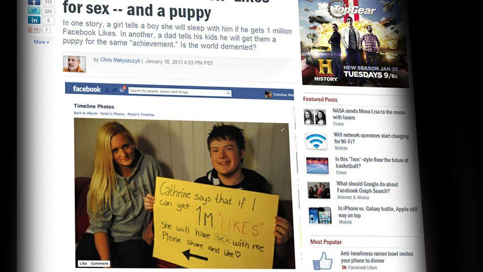 Petter Kverneng sitt Facebook-stunt blir omtalt i aviser over hele verden.