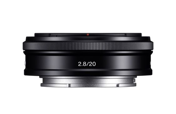 Sony SEL-20F28 20 mm F2.8 pancake.