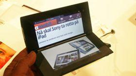 Sony Tablet P 300 har også foldesdesign og dobbel skjerm.