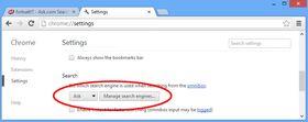 Her ligger Ask fortsatt som standard i Chrome, selv etter avinstallasjon.