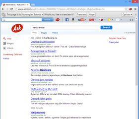 Så, hvor er søkeresultatet blitt av? Nederst, nesten utenfor skjermen såklart.