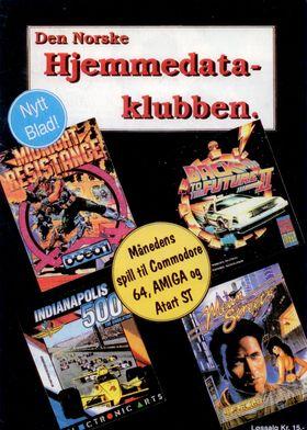 Forsiden fra Den Norske Hjemmedataklubben, nr. 1 1991.