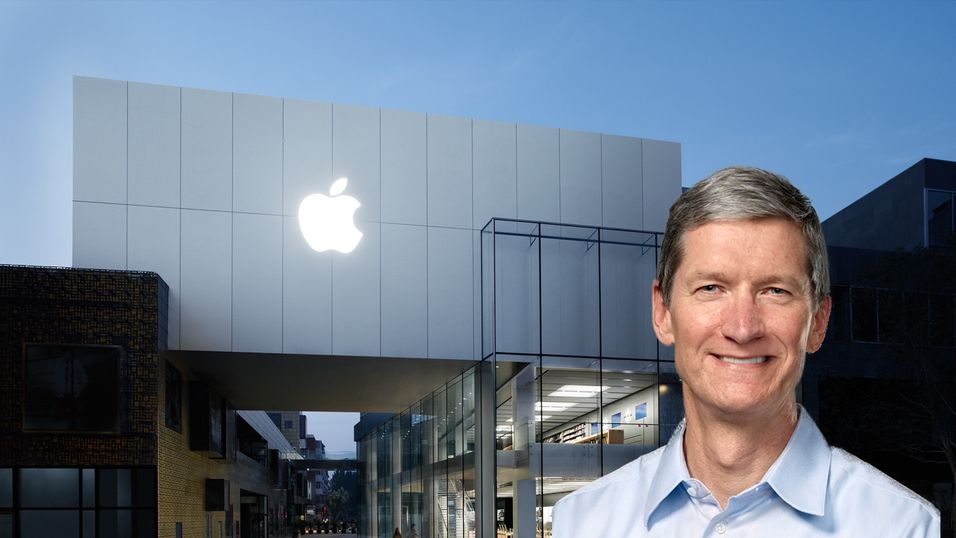 Apple klatrer mot toppen